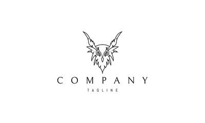 Owl line vector logo image