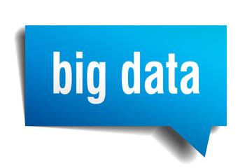 big data blue 3d speech bubble