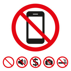 Prohibition No photo sign vector illustration