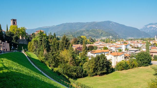 Bassano del Grappa (Italy, Veneto Region): city view. Color image