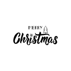 Merry Christmas. Lettering. calligraphy vector illustration. winter holiday design
