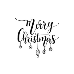 Merry Christmas. Xmas holiday script lettering design. calligraphy vector illustration.