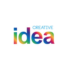 Simple modern colorful creative concept