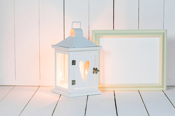 Lantern and picture frame