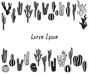 Hand drawn cactus