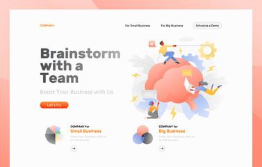 Brainstorming as a Team Web Banner