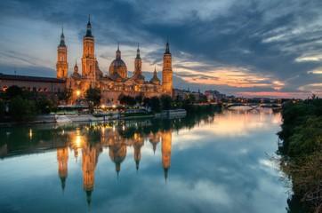 Basilica of Our Lady of the Pillar, Zaragoza, Spain.