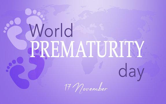World Prematurity day, 17 November, Purple background