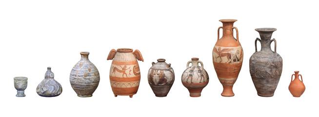 Fototapeta Set of old ceramics obraz