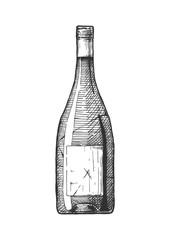 Wall Mural - illustration of Wine bottle.