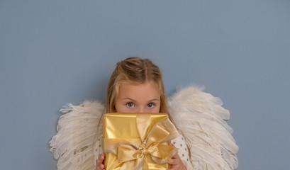 girl awaiting christmastime