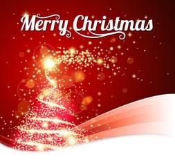 shiny Christmas tree card