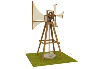 Windmill, Leonardo da Vinci, Codex Madrid II / 0043v.