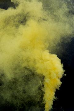 Yellow Smoke Bomb Overlays