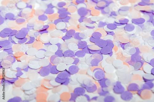 multicolored confetti of pastel pink lilac colors festive confetti for birthday new year