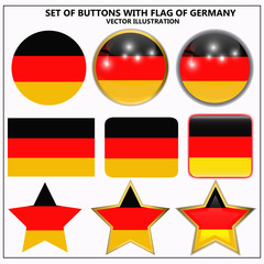 Set of banners with flag of Germany.