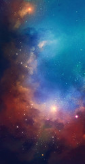 Poster Universe Nebula on a background of outer space