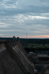 Views of Mansfield Dam at Sunset after the Rain