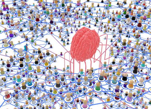Cartoon Crowd Layered System, Brain