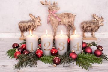 Weihnachtskranz Gesteck Advent