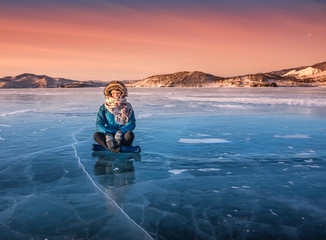 Wondeful ice of Baikal lake