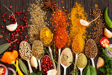 Foto op Canvas Kruiden Herbs and spices
