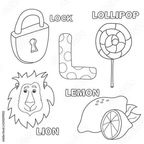Alphabet letter with alphabet letters - L. pictures of the letter ...