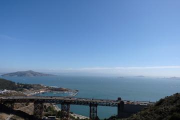 Printed kitchen splashbacks Australia Golden Gate Bridge