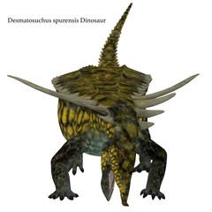 Desmatosuchus Dinosaur Front with Font