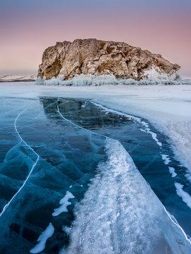 Icy wonders of Baikal lake