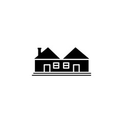 House icon. Simple glyph vector of buildings set for UI and UX, website or mobile application