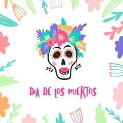 Dia de los muertos. Day of the daed poster.