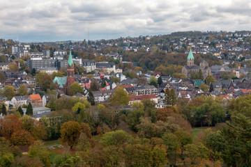 Panoramaansicht von Essen-Werden an der Ruhr