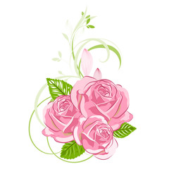 Stylish cute hand-drawn background with