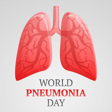 World pneumonia day concept background. Cartoon illustration of world pneumonia day vector concept background for web design
