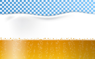 Beer foam bubbles concept background. Realistic illustration of beer foam bubbles vector concept background for web design