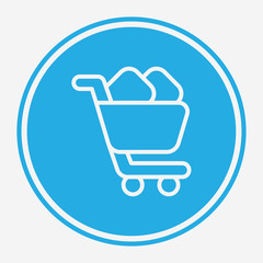 Shopping cart vector icon sign symbol