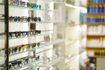 sunglasses on store shelves