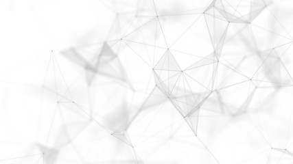 Abstract white futuristic background. White background. connecting dots and lines on white...