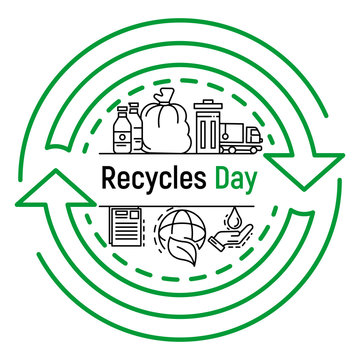 International recycles day concept background. Outline illustration of international recycles day vector concept background for web design
