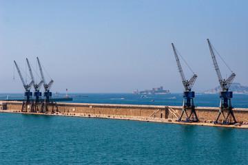 Fotobehang Poort Port de Marseille - Quai Jean Charcot