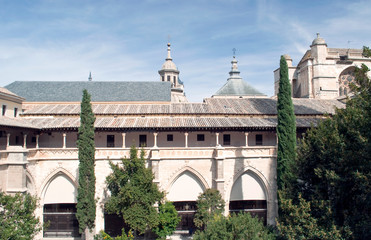 Cloister with gardens of the monastery of Toledo