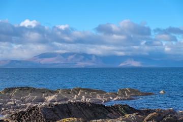 Clouds over the Arran Hils in Scotland
