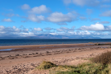 Seamill Sands and Arran on a Cold Octobers day