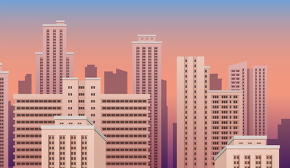 City urban landscape. Vector eps10 isolated illustration.