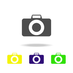 camera multicolor icon. Element of web icons.  Signs and symbols icon for websites, web design, mobile app on white background with shadow