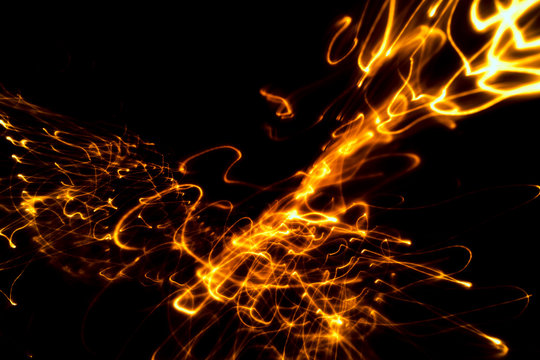 Abstract background light with music note bokeh
