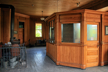 Antique Railroad Station Interior
