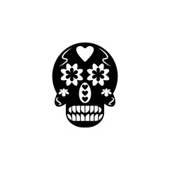 Dia de los muertos sugar skull icon. Element of day dead icon for mobile concept and web apps. Detailed Dia de los muertos sugar skull icon can be used for web and mobile