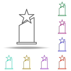 Oscar Star icon. Elements of awards in multi color style icons. Simple icon for websites, web design, mobile app, info graphics